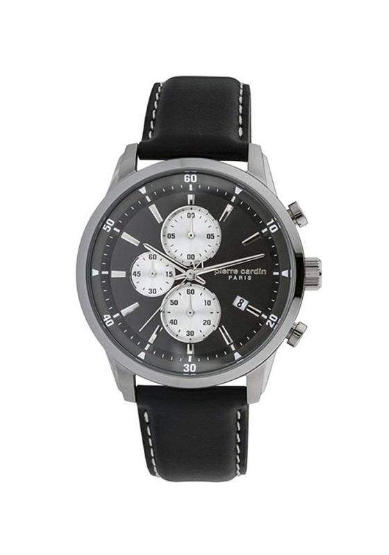 """Εικόνα του """"PIERRE CARDIN Champerret PC902321F01 Ανδρικό Ρολόι με Μαύρο Δερμάτινο Λουρί (Δέρμα)"""""""