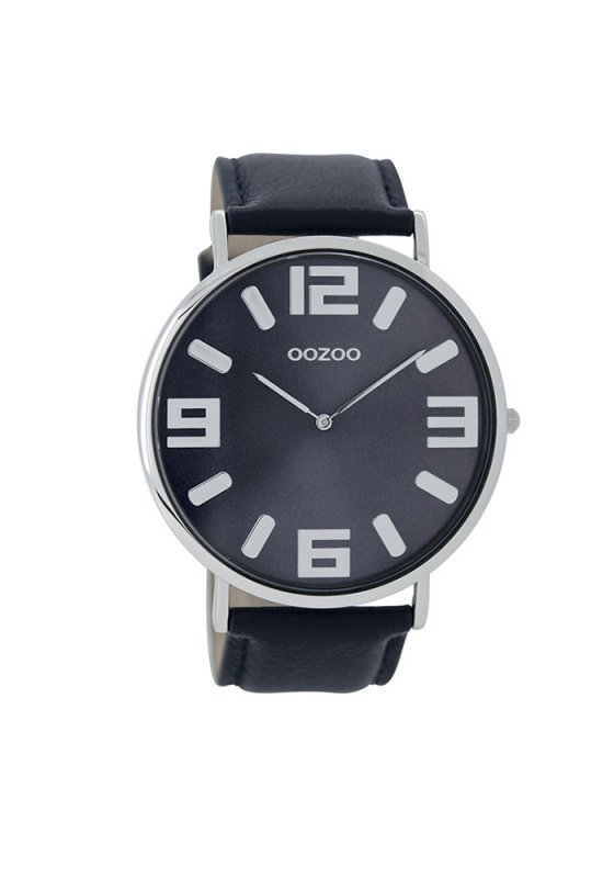 "Image of ""OOZOO Timepieces C8853 Men's Watch with Blue Leather Strap"""
