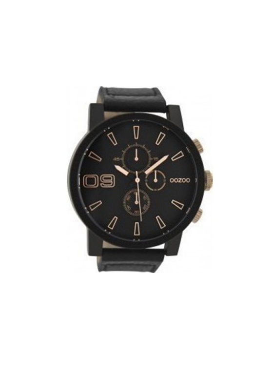 "Image of ""OOZOO Timepieces C9414 Men's Watch with Black Leather Strap"""