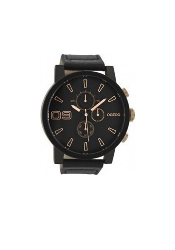 "Image of ""OOZOO Timepieces C9034 Men's Watch with Black Leather Strap"""