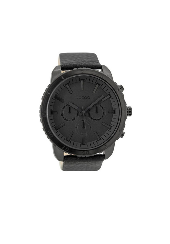 "Image of ""OOZOO Timepieces C9449 Men's Watch with Black Leather Strap"""