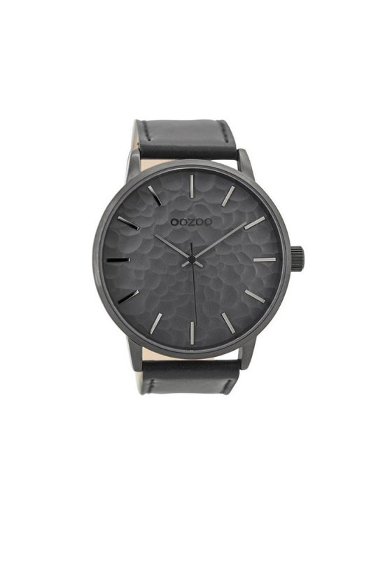 "Image of ""OOZOO Timepieces C9444 Men's Watch with Black Leather Strap"""