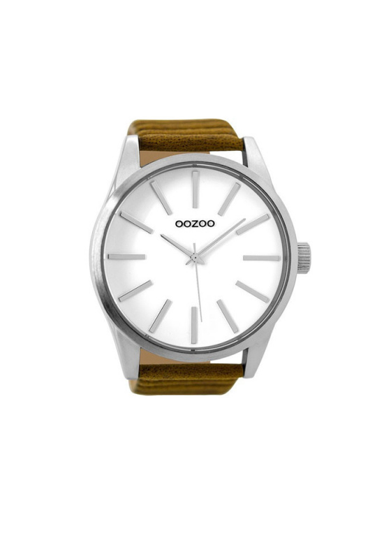 "Image of ""OOZOO Timepieces C9410 Men's Watch with Brown Leather Strap"""
