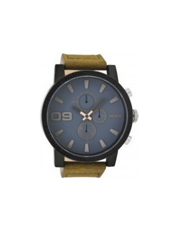 "Image of ""OOZOO Timepieces C9030 Men's Watch with Brown Leather Strap"""