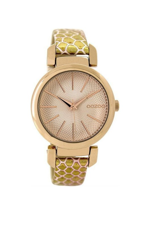 "Image of ""OOZOO Timepieces C9487 Women's Watch with Gold Leather Strap"""