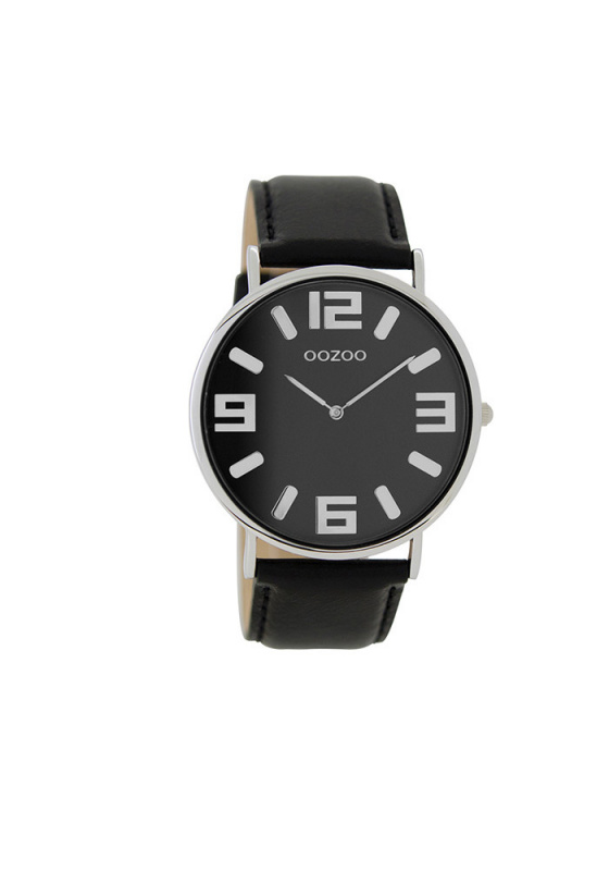 "Image of ""OOZOO Timepieces C8844 Men's Watch with Black Leather Strap"""