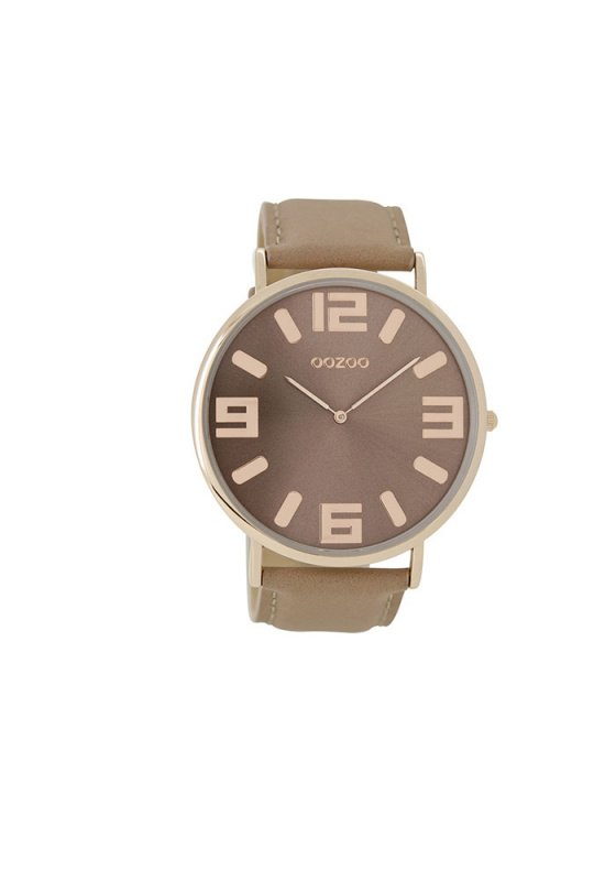 "Image of ""OOZOO Timepieces C8851 Women's Watch with Brown Leather Strap"""