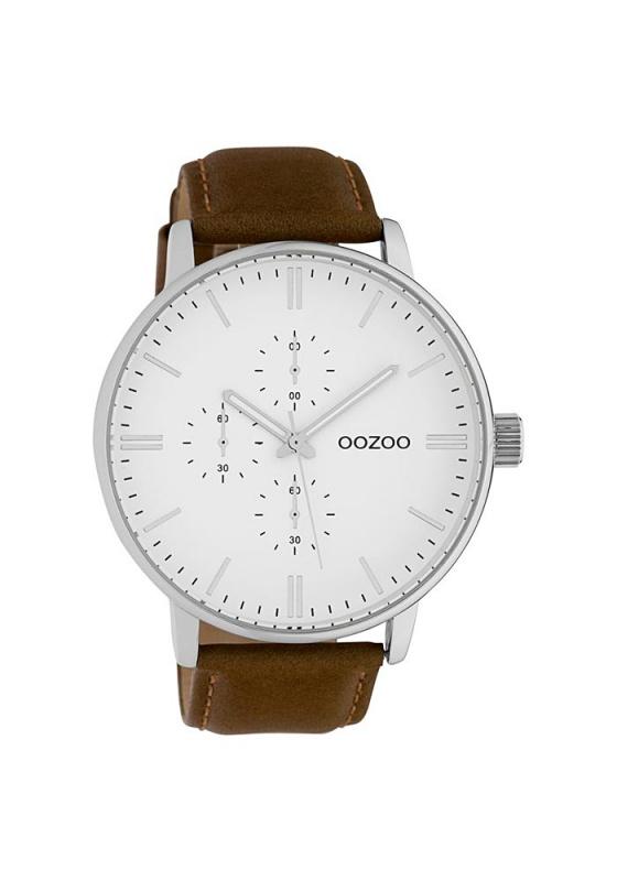 """Εικόνα του """"OOZOO Timepieces C10311 Unisex Ρολόι με Καφέ Δερμάτινο Λουρί"""""""