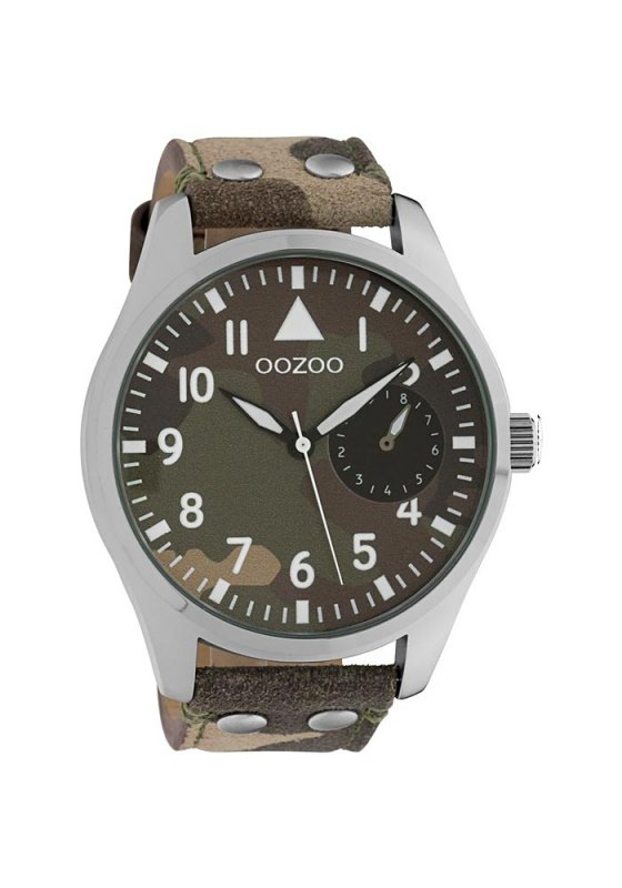 """Image of """"OOZOO Timepieces C10326 Unisex Watch with Camouflage Leather Strap"""""""