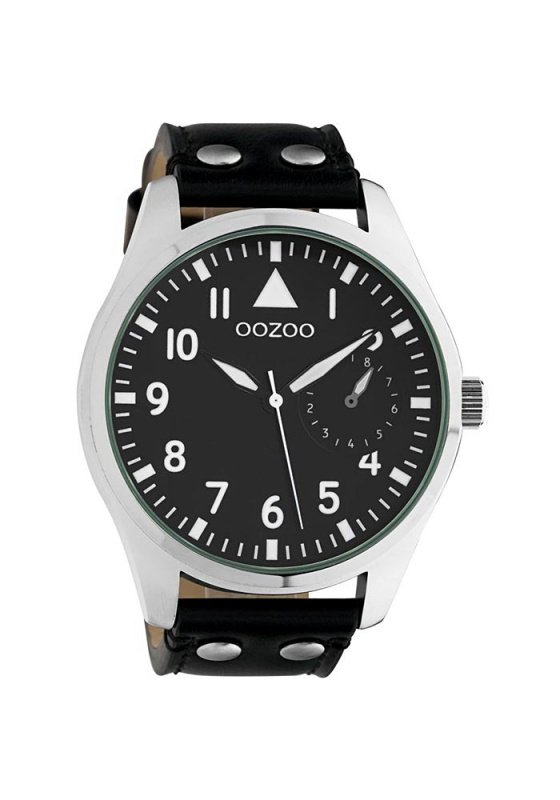 """Image of """"OOZOO Timepieces C10328 Unisex Watch with Black Leather Strap"""""""