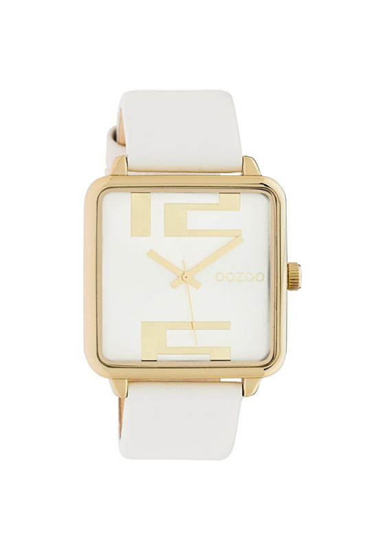 "Image of ""OOZOO Timepieces C10360 Women's Watch with White Leather Strap"""
