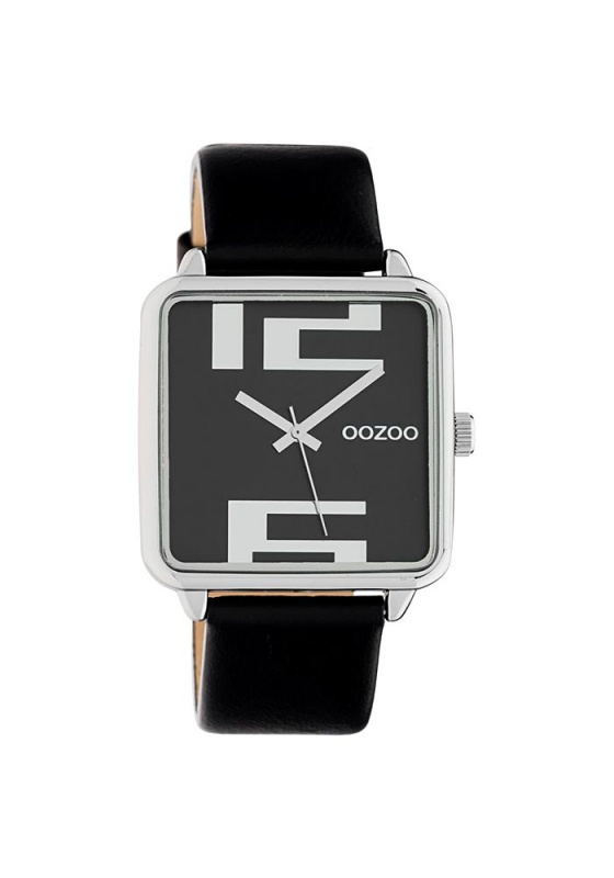 "Image of ""OOZOO Timepieces C10364 Women's Watch with Black Leather Strap"""