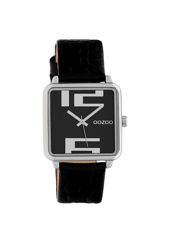 "Image of ""OOZOO Timepieces C10369 Women's Watch with Black Leather Strap"""