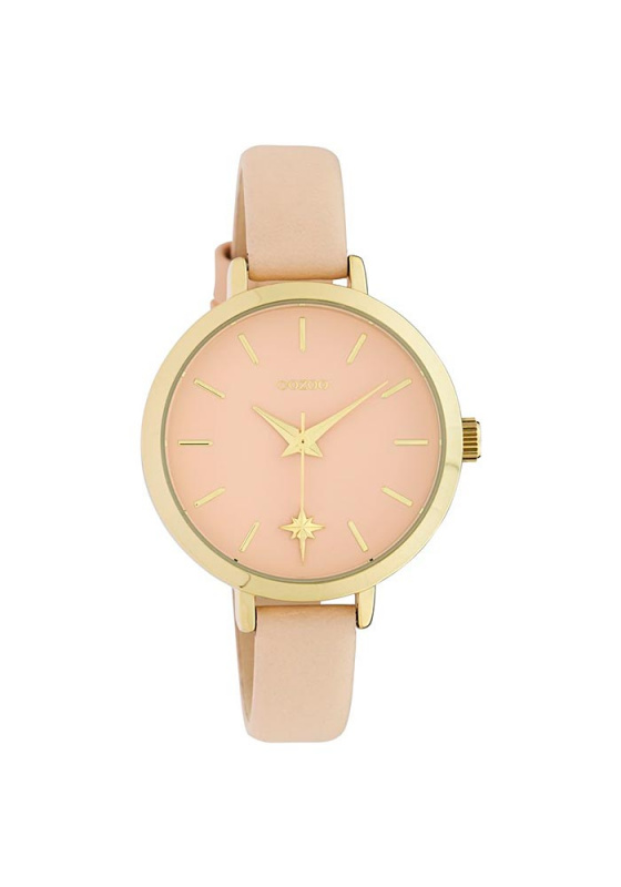 "Image of ""OOZOO Timepieces C10386 Women's Watch with Creme Leather Strap"""