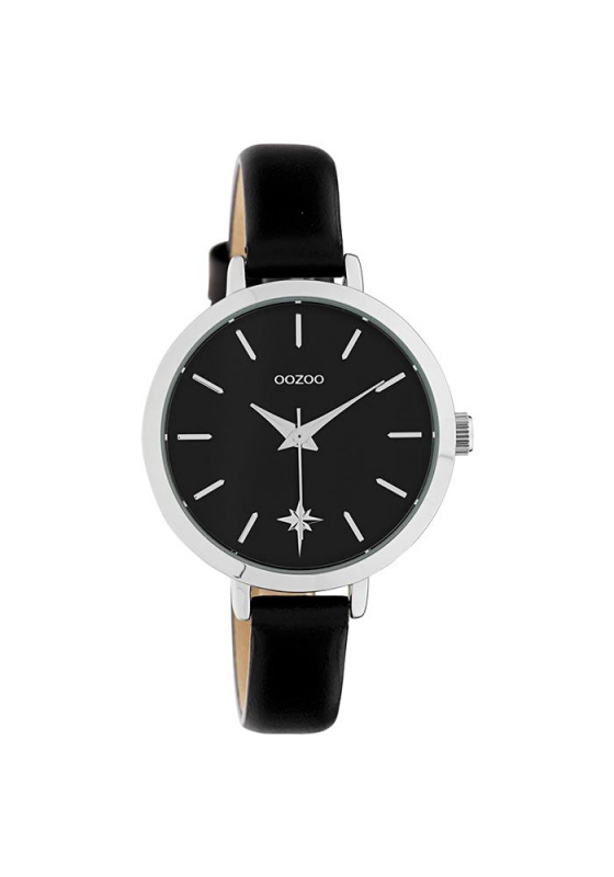 "Image of ""OOZOO Timepieces C10389 Women's Watch with Black Leather Strap"""