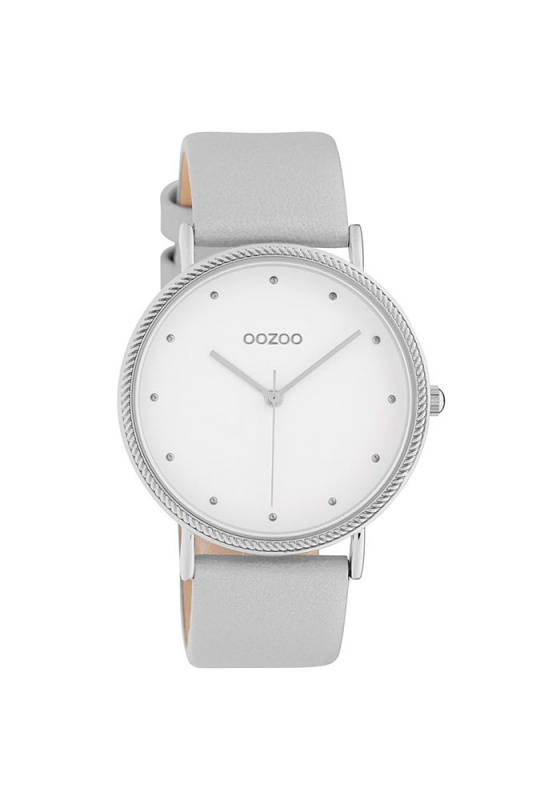 "Image of ""OOZOO Timepieces C10415 Women's Watch with Silver Leather Strap"""