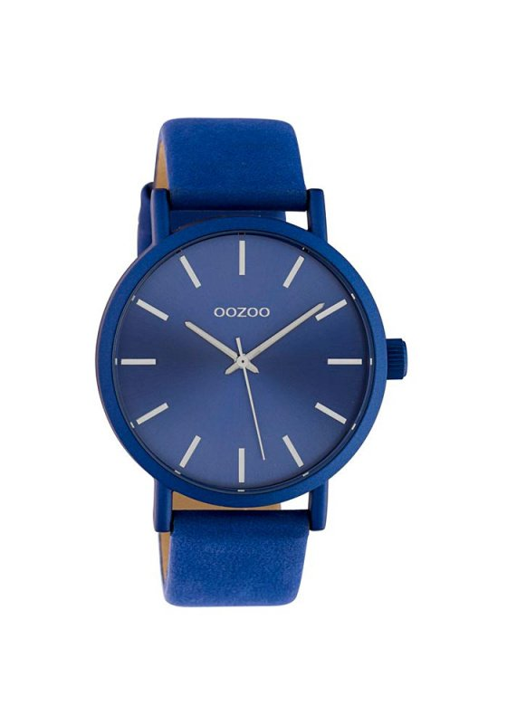 """Image of """"OOZOO Timepieces C10452 Unisex Watch with Blue Leather Strap"""""""