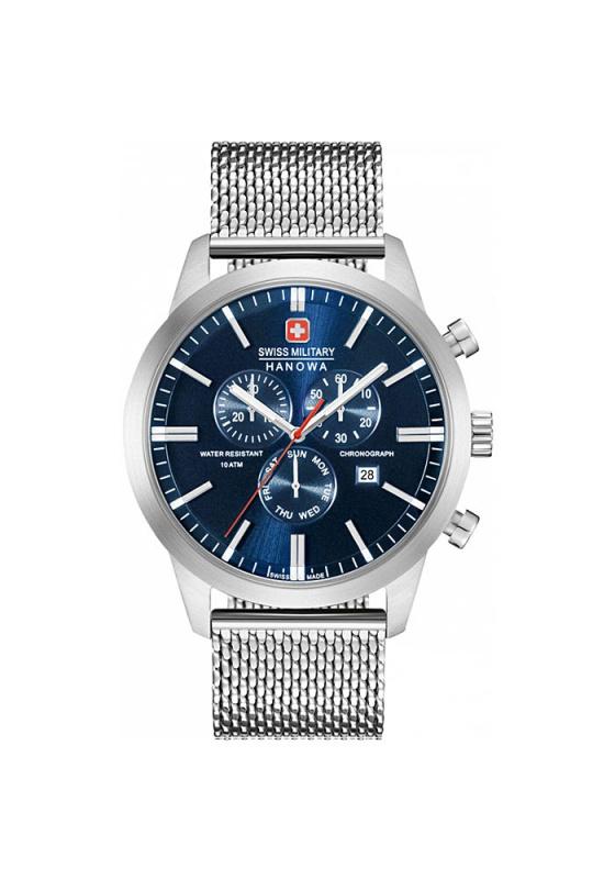 """Εικόνα του """"SWISS MILITARY HANOWA Chrono Classic 6-3308.04.003 Ανδρικό Ρολόι με Μπρασελέ"""""""