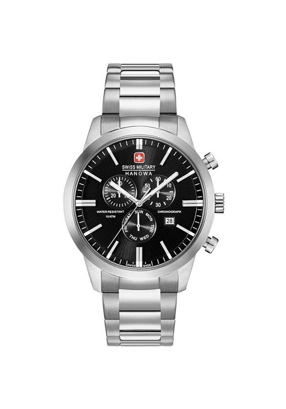 """Εικόνα του """"SWISS MILITARY HANOWA Chrono Classic 6-5308.04.007 Ανδρικό Ρολόι με Μπρασελέ"""""""