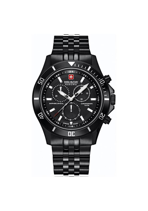 "Image of ""SWISS MILITARY HANOWA Flagship Chrono 6-5183.7.13.007 Men's Bracelet Watch"""