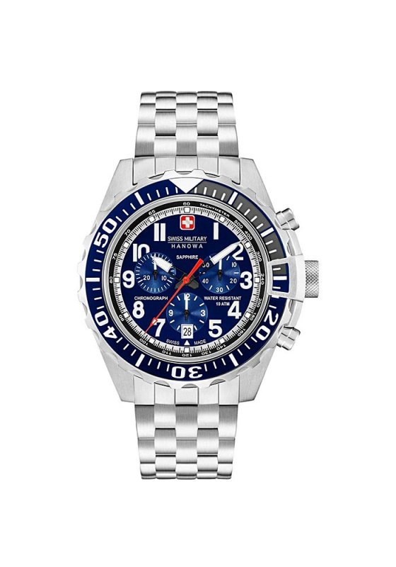 "Image of ""SWISS MILITARY HANOWA Touchdown Chrono 6-5304.04.003 Men's Bracelet Watch"""