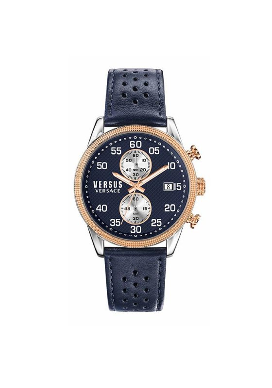 "Image of ""VERSUS Shoreditch S66080016 Men's Watch with Blue Leather Strap"""