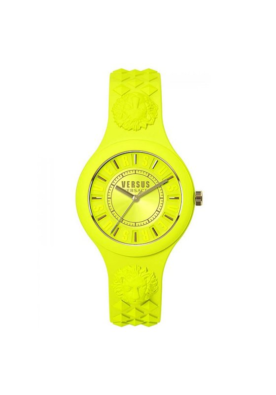 """Image of """"VERSUS Fire Island SOQ060015 Women's Watch with Yellow Silicon Strap"""""""