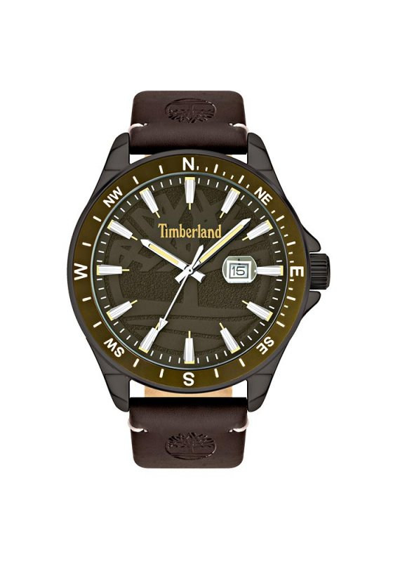 "Image of ""TIMBERLAND Swampscott TBL15941JYUK/53 Men's Watch with Brown Leather Strap"""
