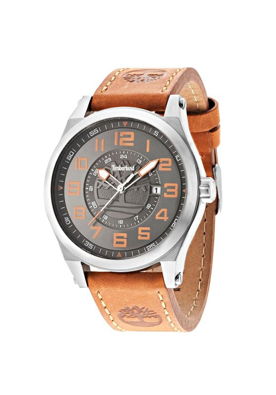 """Image of """"TIMBERLAND Tilden TBL14644JS-05 Men's Watch with Brown Leather Strap"""""""