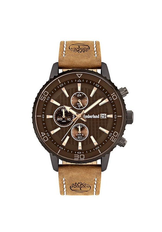 "Image of ""TIMBERLAND Woodworth TBL15952JYU/02 Men's Watch with Brown Leather Strap"""