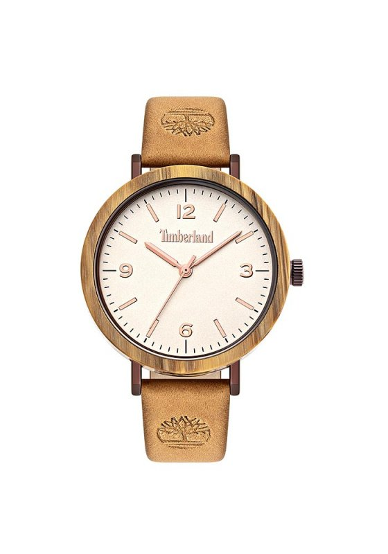 """Image of """"TIMBERLAND Nayson TBL15958MYBNBE/07 Women's Watch with Brown Leather Strap"""""""