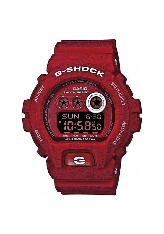 "Image of ""CASIO G-Shock GD-X6900HT-4ER Men's Watch with Red Silicon Strap"""