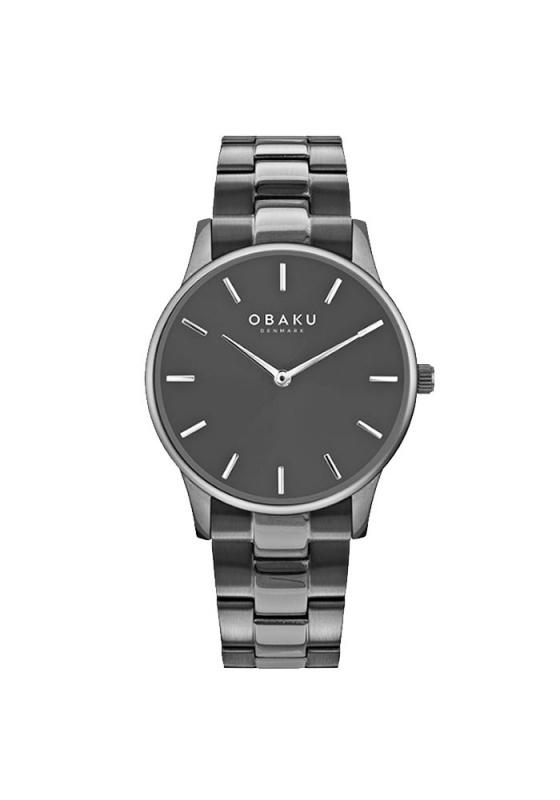 """Εικόνα του """"OBAKU Lyng Smokey V247GXUUSU Ανδρικό Ρολόι με Μπρασελέ"""""""