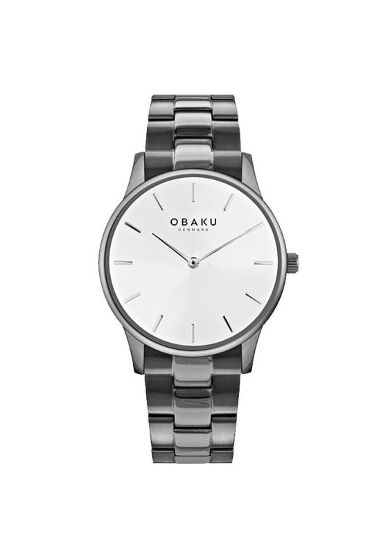 """Εικόνα του """"OBAKU Lyng Slate V247GXUISU Ανδρικό Ρολόι με Μπρασελέ"""""""