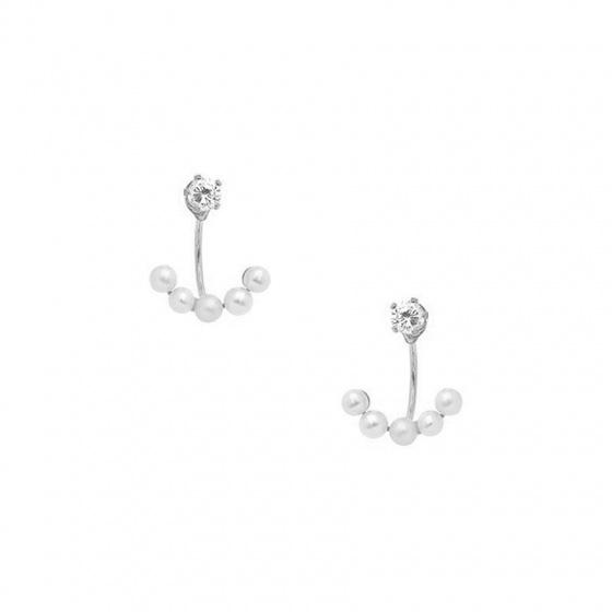 """Image of """"Silver earjacket earrings, 50449000"""""""