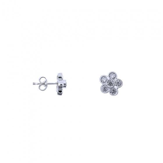 "Image of """"Sunflower"" silver earrings"""