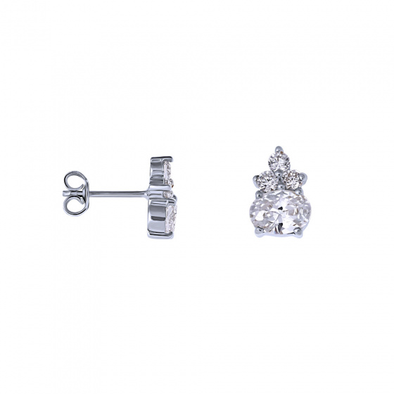 "Image of """"Heirloom"" silver earrings"""