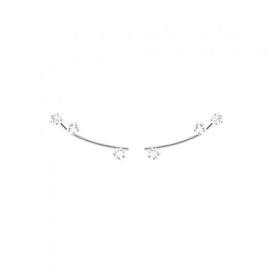 "Image of ""PDPAOLA ""Glow"" silver climber earrings, AR02-034-U"""