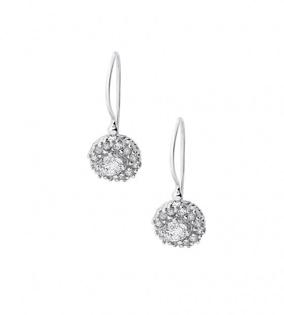 """Image of """"""""White Rosette"""" silver earrings"""""""