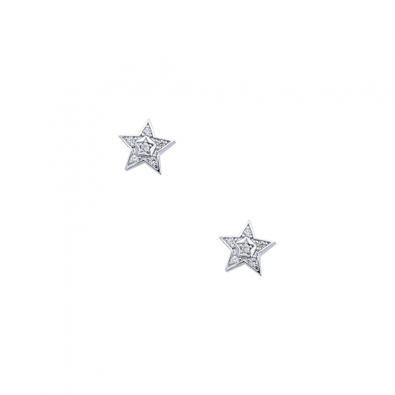 """Image of """"""""Bright Stars"""" silver earrings"""""""