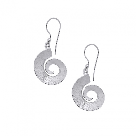 "Image of ""''Ancient Fossils'' silver earrings"""