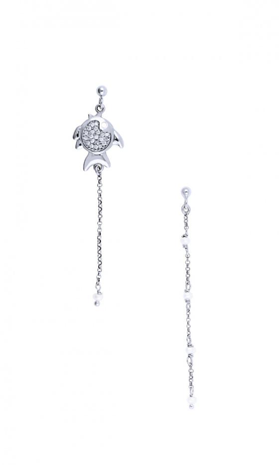 """Image of """"""""Ocean Life #3"""" silver earrings"""""""