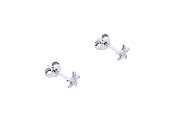 "Image of """"Starfish"" silver earrings"""