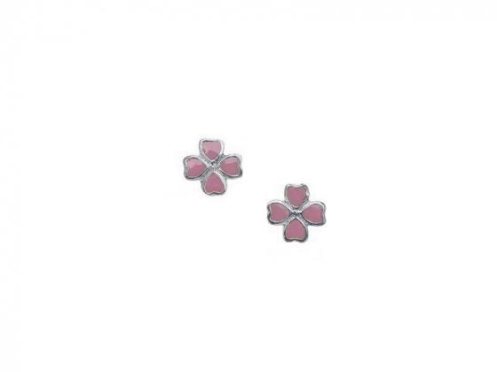 """Image of """"""""Lovely Flower"""" silver children's earrings"""""""
