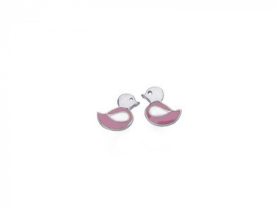 "Image of """"Lovely Bird"" silver chldren's earrings"""
