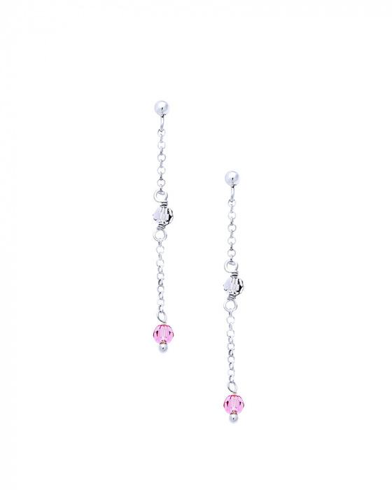 "Image of """"Rainbow Gems #2"" silver earrings"""