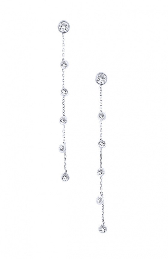 """Image of """"""""Mistress of the Sky #2"""" silver earrings"""""""