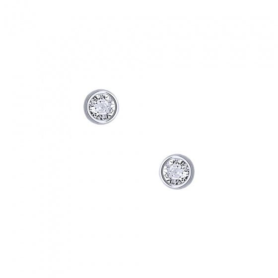 """Image of """"""""White Sensation"""" silver earrings"""""""