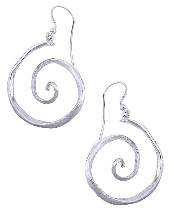 """Image of """"""""Snail"""" silver earrings"""""""