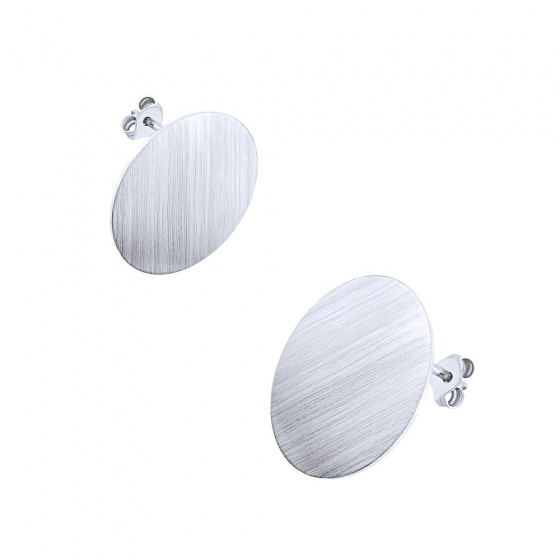 "Image of """"Dazzling Disk #2""silver earrings"""